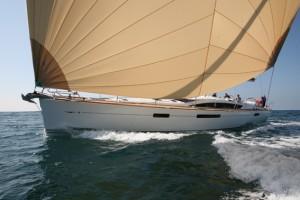 Jeanneau 57 - bow on big assy