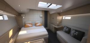 Jeanneau 64 - master forward cabin