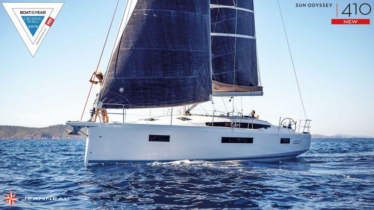 Cruising World Judges name the Jeanneau Sun Odyssey 410 Best Midsize Cruiser Over 38 Feet.
