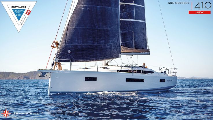 New Jeanneau Sun Odyssey 410 Cruising World mid-size Yacht of the Year & more: