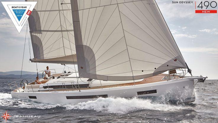 Sun Odyssey 490 wins Cruising World Boat of the Year Award