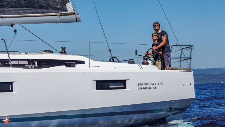 First Jeanneau Sun Odyssey 410 for Australia under construction: